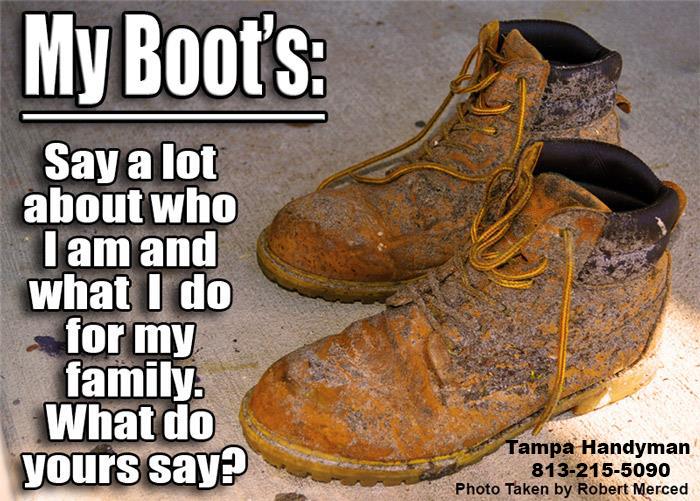 Tampa handyman boots